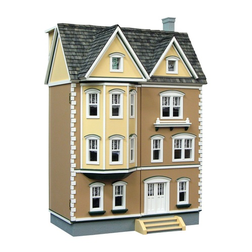 Real Good Toys 1/2 Scale Front Opening East Side Townhouse Unfinished Dollhouse Kit (H330) - Facing Right