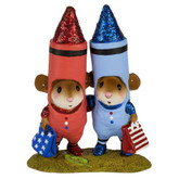 Wee Forest Folk Miniature - Color Me RWB (M-533c)