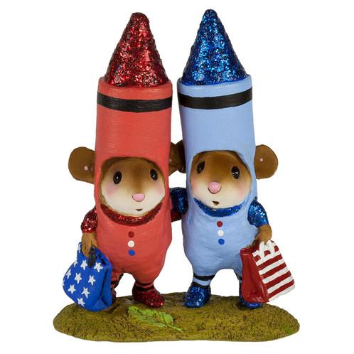 Wee Forest Folk Miniature - Color Me RWB (M-533c)