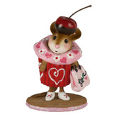 Wee Forest Folk Miniature - Valentine Cupcake Treat (M-574e) Limited Edition