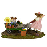 Wee Forest Folk Miniature - Mommy's Garden Helper in Pink Dress (M-517a)