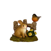 Wee Forest Folk Miniature - Spring Bunny & Robin (A-37)