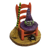 Wee Forest Folk Miniature - Witchy's Hip Hat & Broom (A-38)