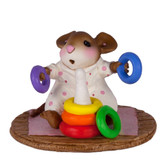 Wee Forest Folk Miniature - Rainbow Rings Girl (M-595b)
