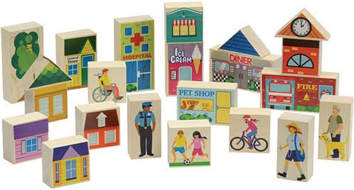 Maple Landmark Main Street Block Set