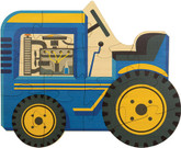 Maple Landmark Tractor Shaped Jigsaw Puzzle, 12 Pieces