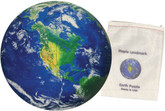 Maple Landmark Earth Shaped Jigsaw Puzzle, 12 Pieces