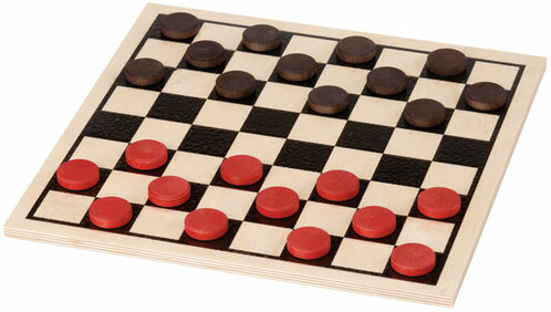 Checkers, Basic Board, Plain Set by Maple Landmark