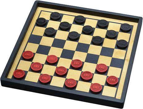 Checkers, Premium Board, Train Set by Maple Landmark