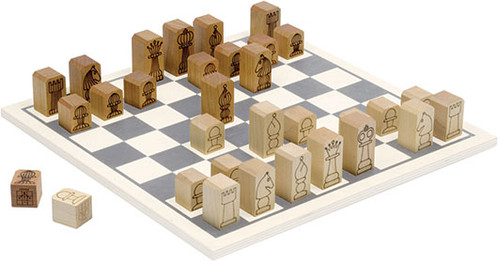 Wooden Chess Men Pieces by Maple Landmark