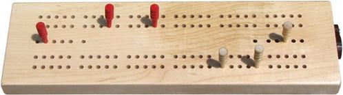 Standard Cribbage Board by Maple Landmark
