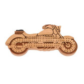 Wooden Motorcycle Cribbage Board by Maple Landmark