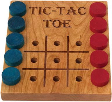 Tic-Tac-Toe, Deluxe Cherry by Maple Landmark (50110)
