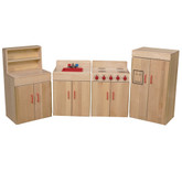 Heritage Solid Maple Play Kitchen Set of Four
