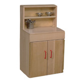 Heritage Solid Maple Play Kitchen Deluxe Hutch