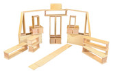 Wooden Hollow Block Set, 20 Pieces