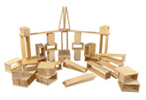 Wooden Hollow Block Set, 40 Pieces