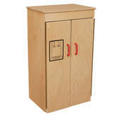 Classic Wooden Play Refrigerator with Red Handles