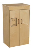Classic Wooden Play Refrigerator with Brown Handles