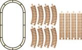 Wooden Train Track, Oval Set By Maple Landmark (11120)