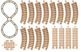 Wooden Train Track, Figure-8 Set By Maple Landmark (11130)