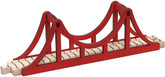 Wooden Train Track Suspension Bridge Set By Maple Landmark (10575)