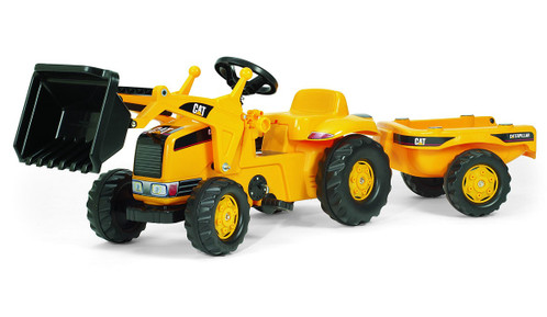 CAT Kid Pedal Tractor with Trailer