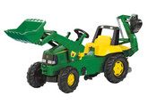 John Deere Front Loader Pedal Tractor with Backhoe