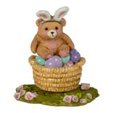 Wee Forest Folk Miniatures - Bunny Bear Basket (A-48)