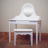 Little Colorado Vanity and Bench Set - White