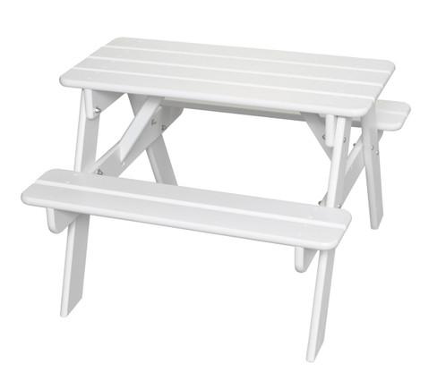 Little Colorado Child's Picnic Table - White
