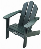 Little Colorado Child's Adirondack Chair - Painted Green with White Personalization