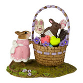 Wee Forest Folk Miniature - Her Easter Goodie Basket (M-523a)