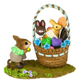 Wee Forest Folk Miniature - His Easter Goodie Basket (M-523b)