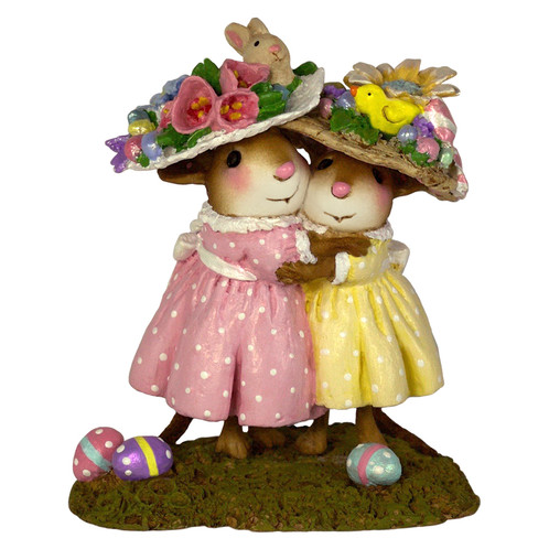 Wee Forest Folk Miniature - Mousey's Easter Bonnets (M-553a)