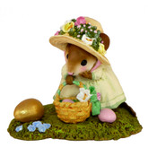 Wee Forest Folk Miniature - Big Egg, Little Basket (M-389)