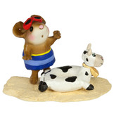Wee Forest Folk Miniature - Tiny Tubie Cow (M-349d)