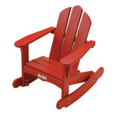 Little Colorado Child's Adirondack Rocking Chair - Red with White Personalization