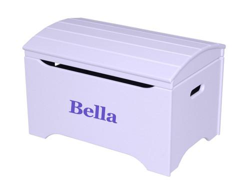 Little Colorado Treasure Chest Toy Box - Lavender with Purple Personalization