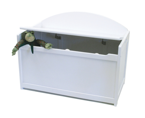 Lipper International Child's Toy Chest, White
