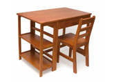 Lipper International Child's Work Station & Chair, Pecan Finish