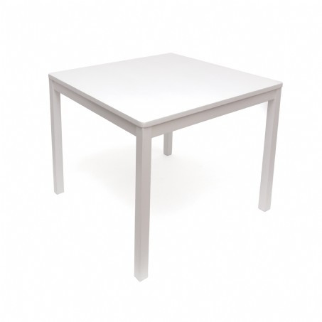 Lipper International Child's Square Table, White