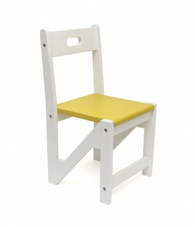 Lipper International Kids ZigZag Stacking Chairs, Set of 2, Yellow