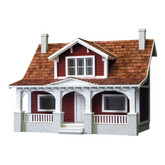 Real Good Toys 1/2 Scale Classic Bungalow Unfinished Dollhouse Kit (HB1900) - Red