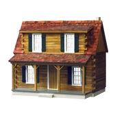Real Good Toys Adirondack Log Cabin Unfinished Dollhouse Kit (J540)