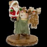 Wee Forest Folk Miniatures - The Santa & Rudy Show (Boy) (M-657b)