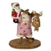 Wee Forest Folk Miniatures - The Santa & Rudy Show (Girl) (M-657a)