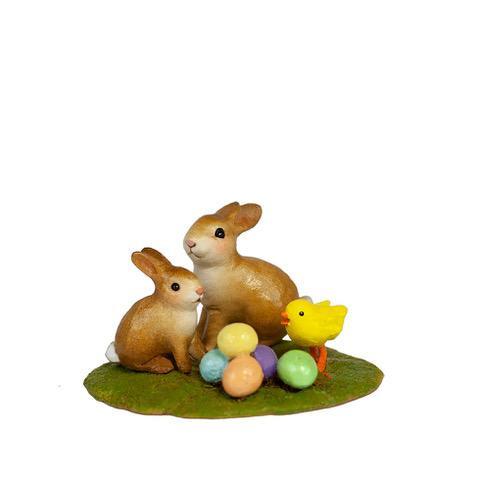 Wee Forest Folk Miniatures - Cute Little Bunnies (A-52)