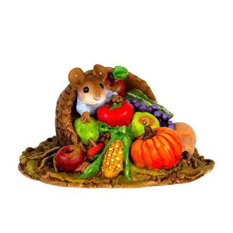 Wee Forest Folk Miniature - Horn of Plenty Mousey (M-680)