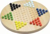 Maple Landmark Wooden Chinese Checkers Game, Maple